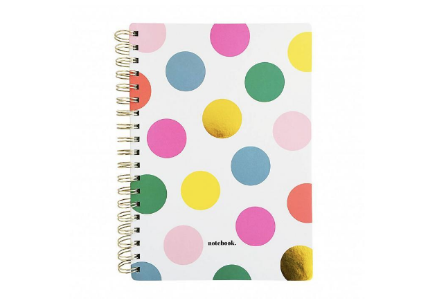 Polka dot notebook from Moss.ie