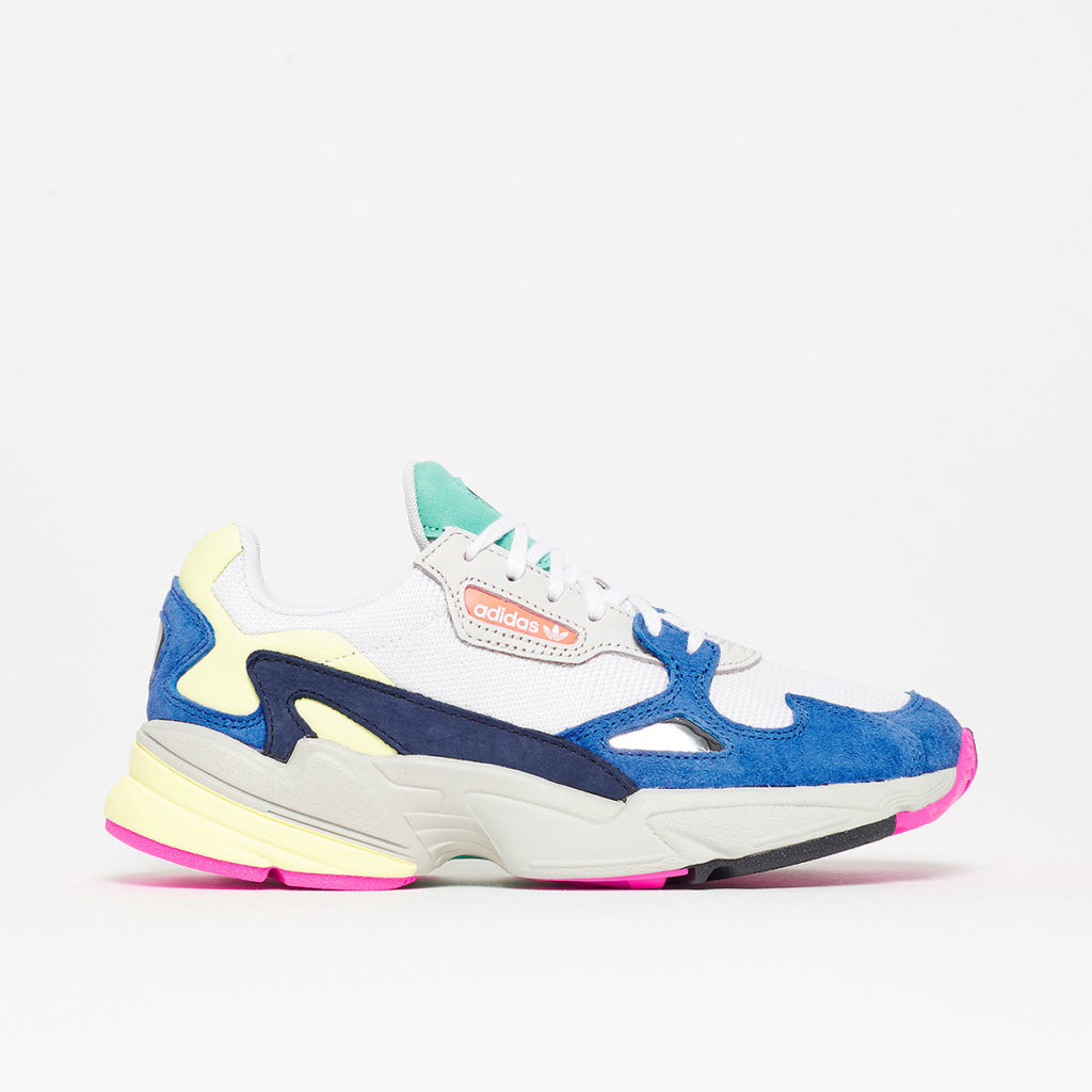 Adidas Falcon in white/blue, €99.95 at maha-amsterdam.com
