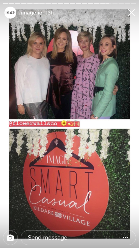 The Smart Casual hosts and Val Forde, PR Director at Kildare Village