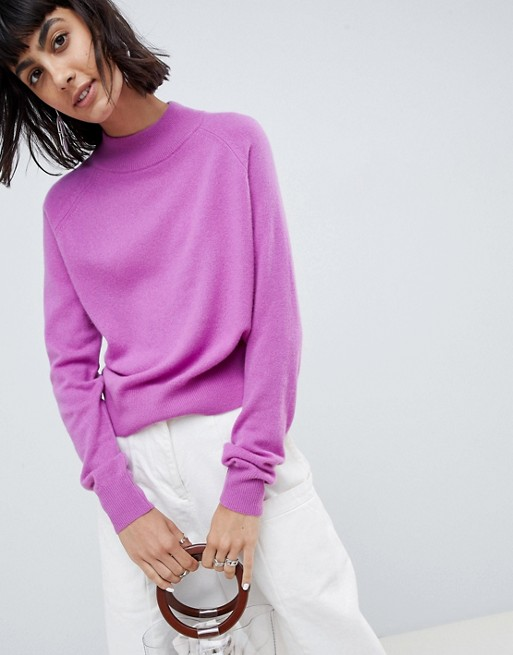 100% cashmere turtleneck jumper, €131.34 at asos.com