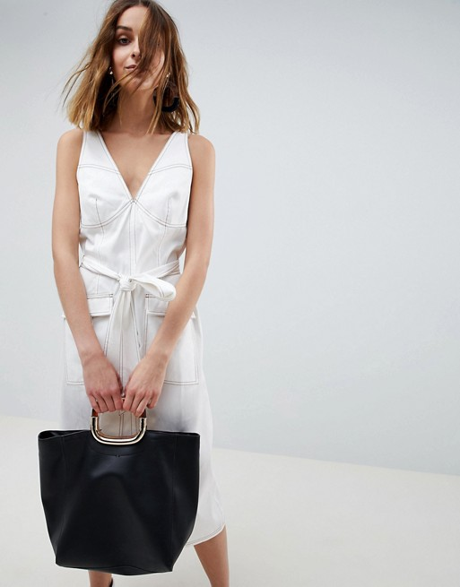 ASOS WHITE sleeveless utility dress, €96.78 at asos.com