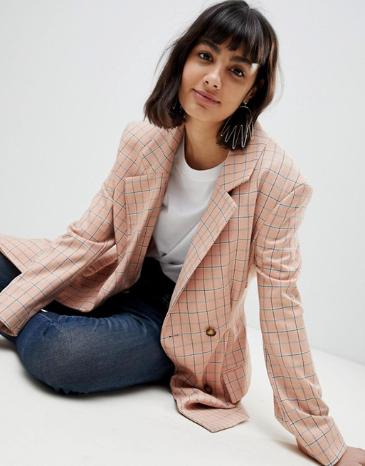 Asos WHITE check blazer, €96.78 at asos.com