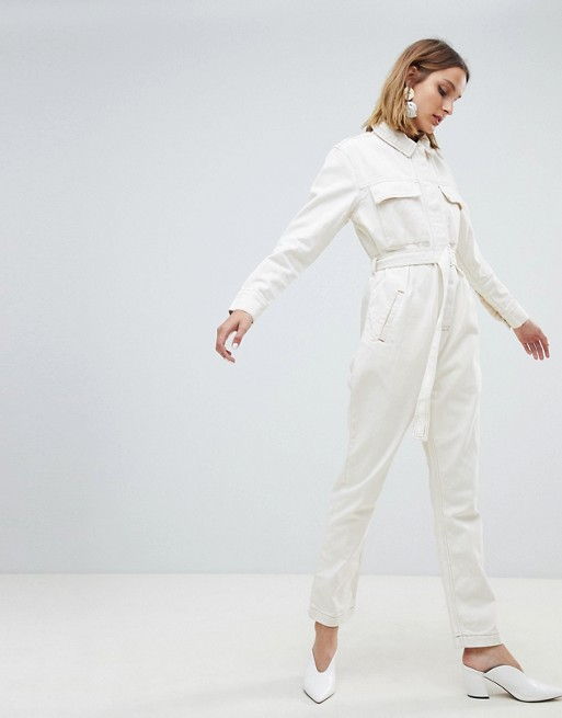 Asos WHITE utility jumpsuit in denim, €89.86 at asos.com