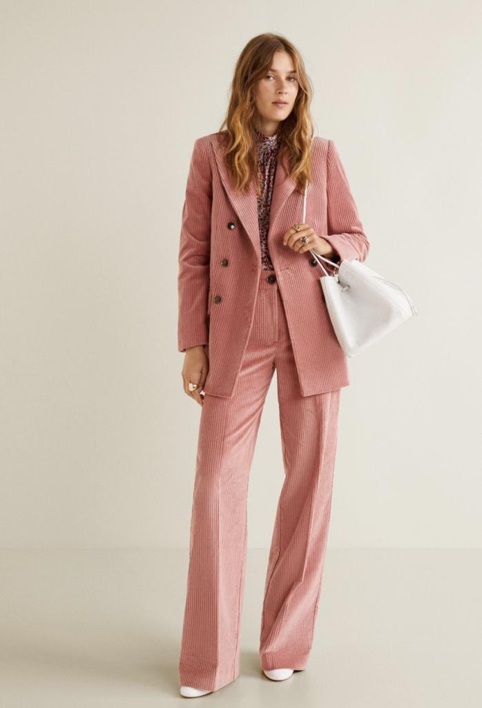 Corduroy structured blazer, €89.99 at mango.com