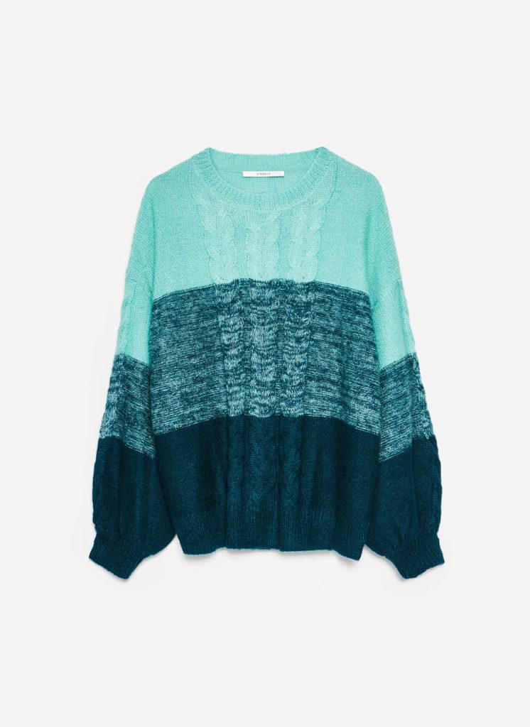 Three-tone sweater, €115 at uterque.com