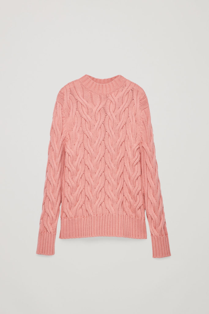 Cable knit wool jumper, €89 at cosstores.com