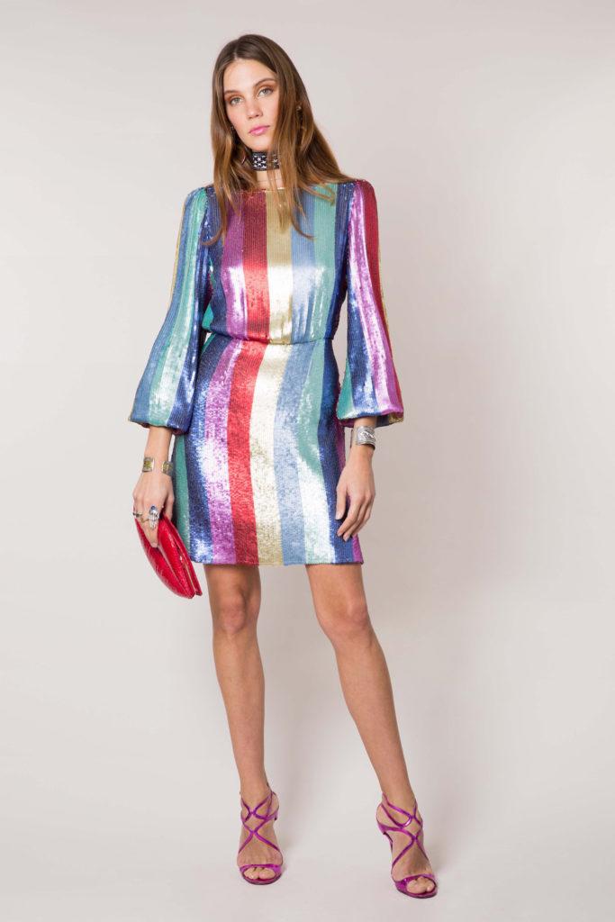 Multi stripe sequin mini dress, €333.14 at rixo.co.uk