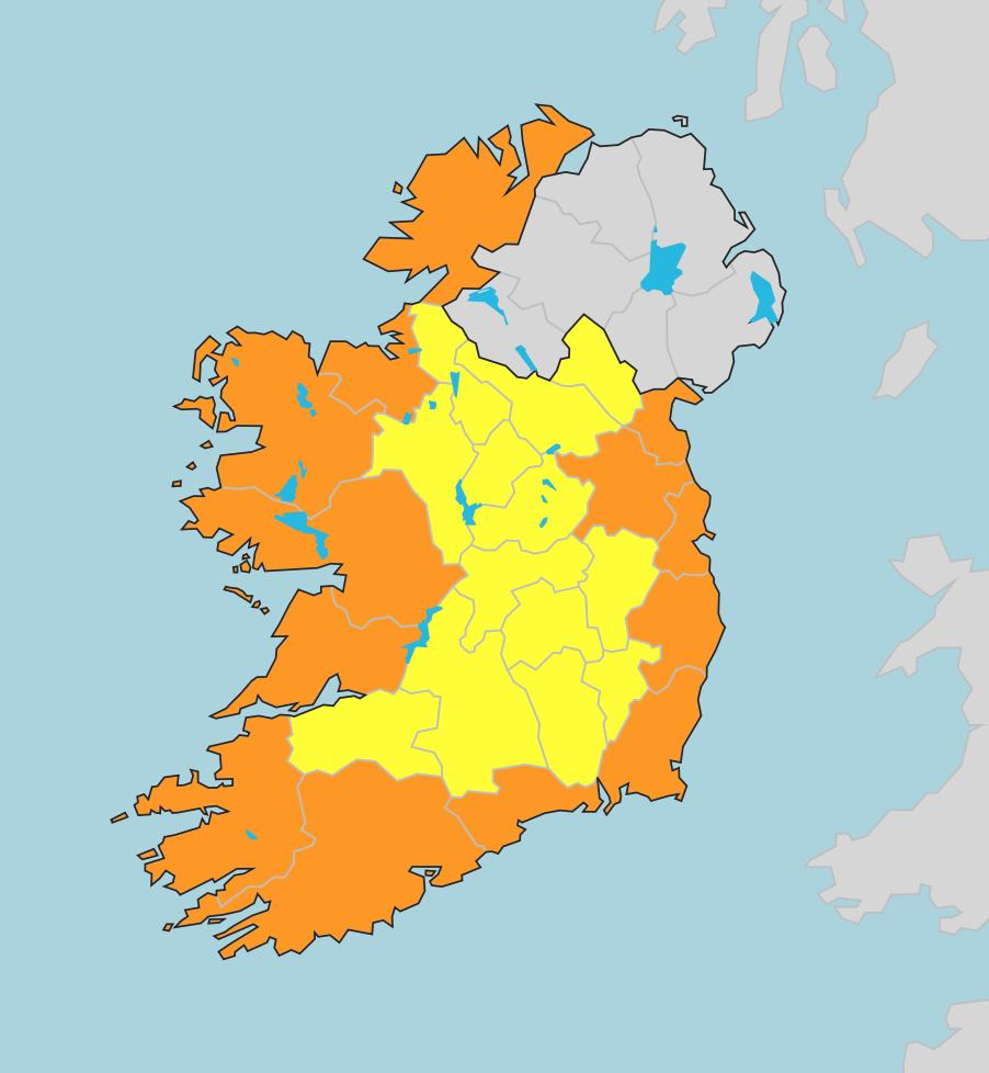 Storm Callum, Irish weather