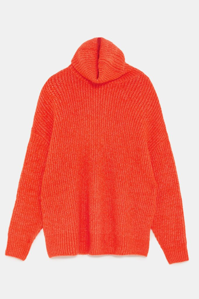 Oversized sweater, €39.95 at zara.com