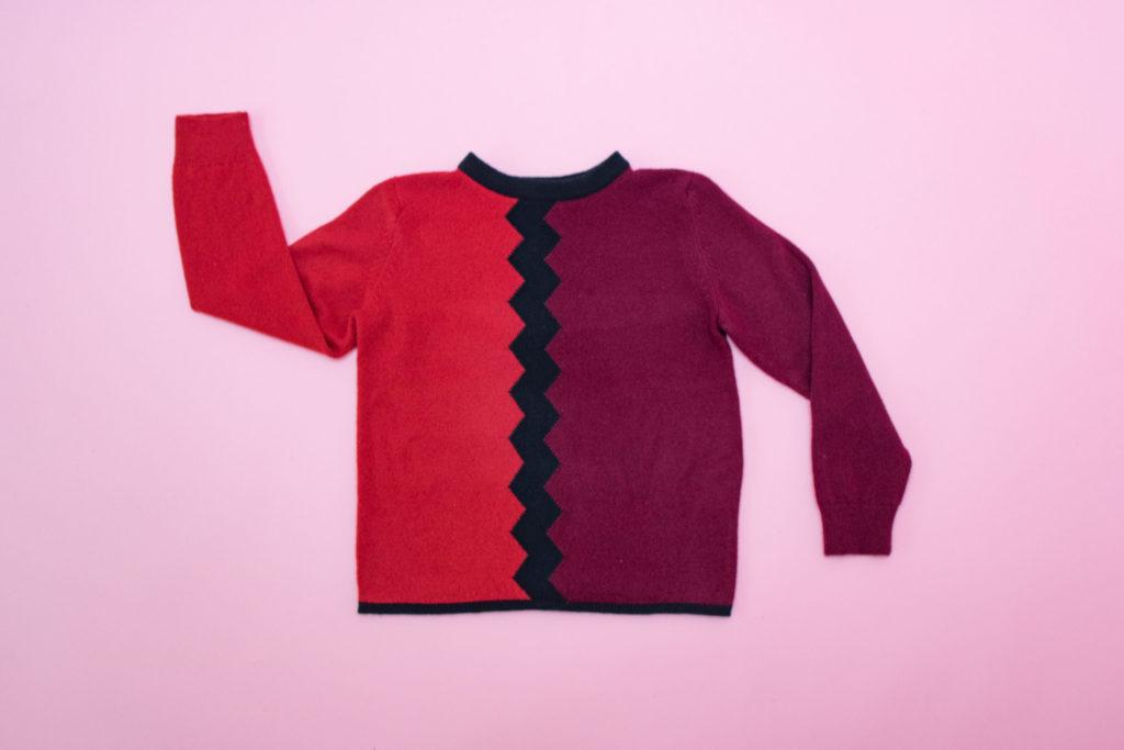 Hand intarsia zig zag sweater, €395 at Callan Design