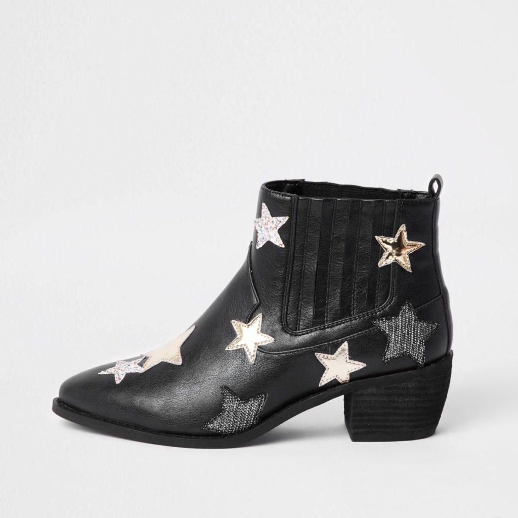 Black star print boot, €100 at riverisland.ie