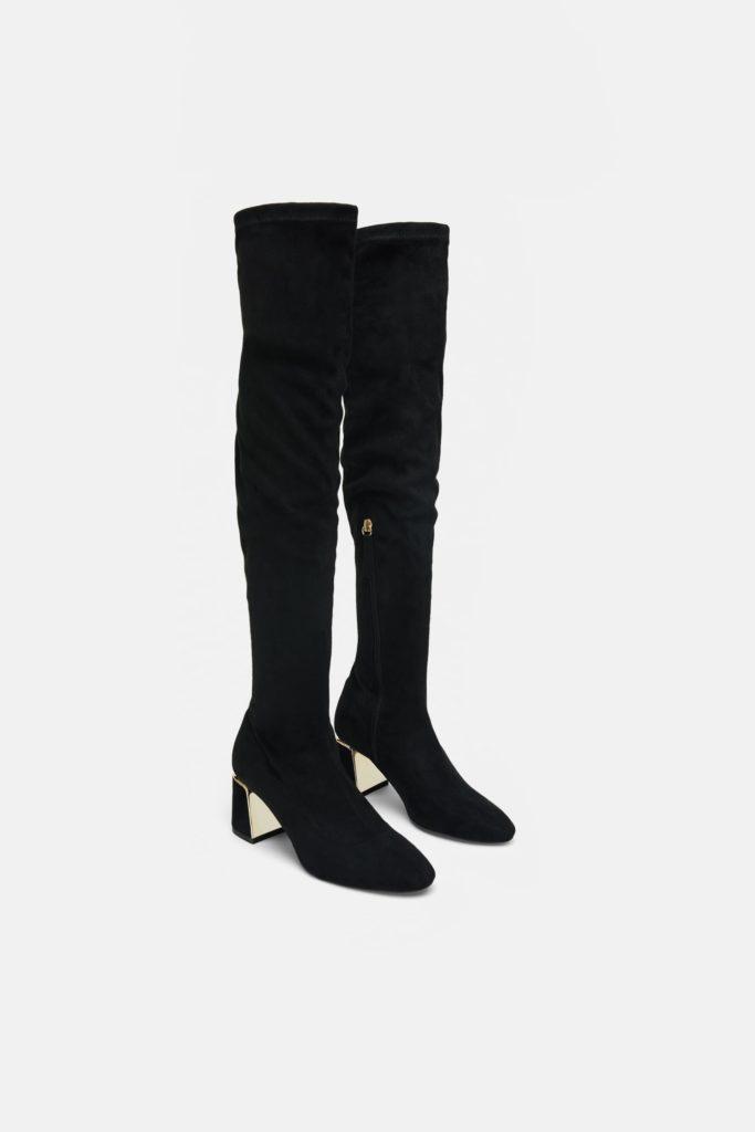 Over the knee high-heel boot, €59.95 at zara.com