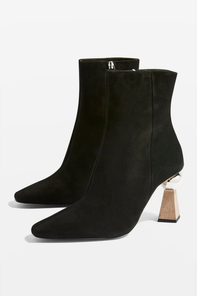 Hexagon sculpture heel boots, €125 at topshop.com