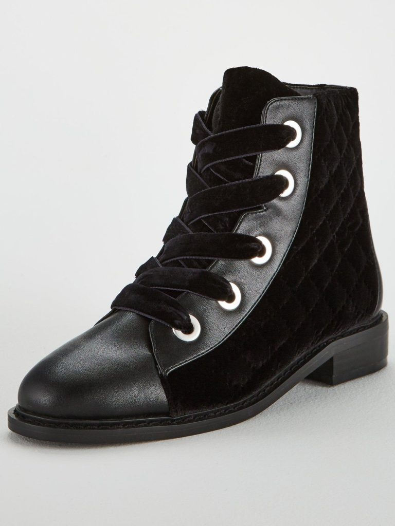 V by Very falonquilted lace up boot, €58 at littlewoodsireland.ie