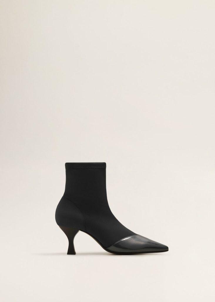 Patent sock boots, €49.99 at mango.com