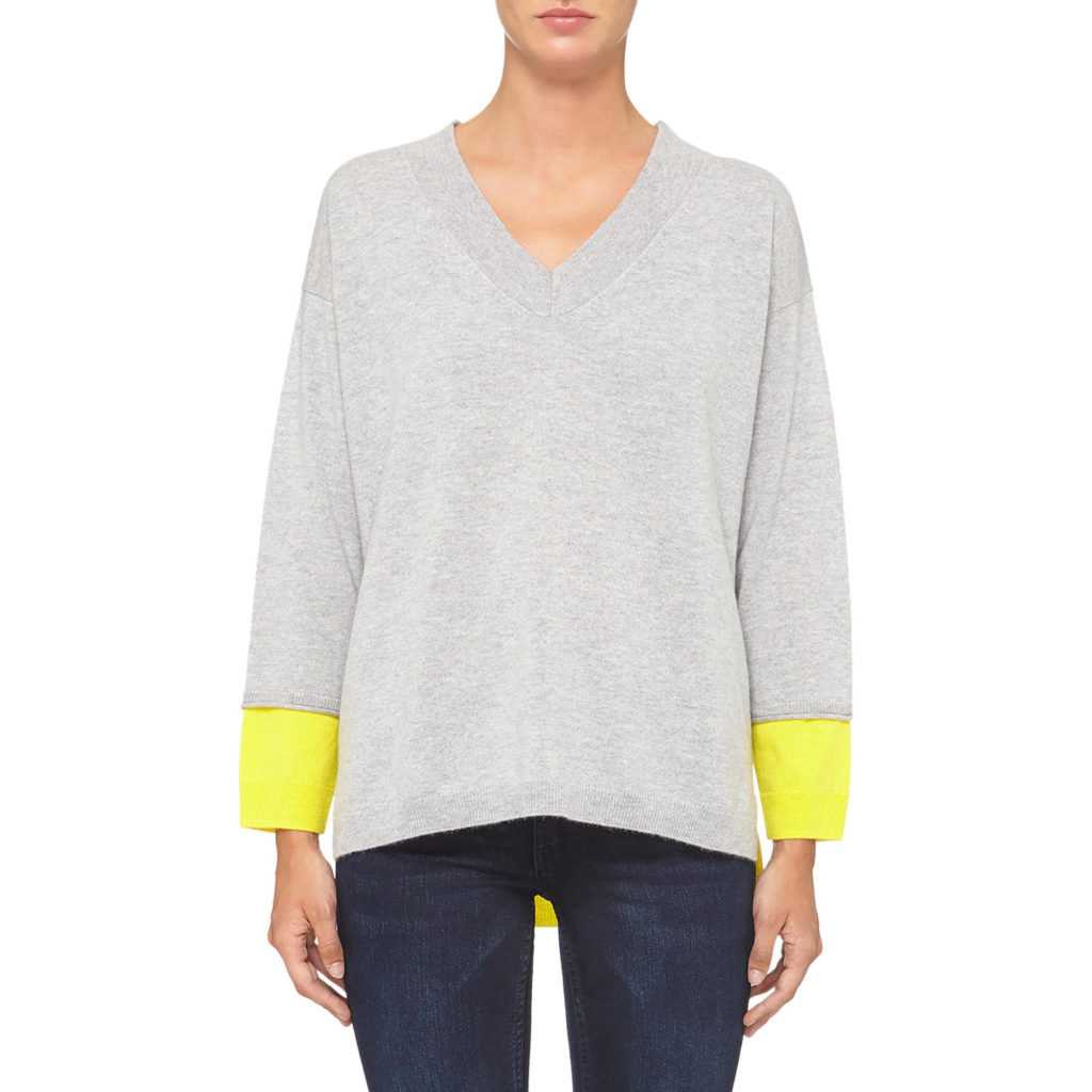 Trim jumper by Cocoa cashmere, €225 at arnotts.ie