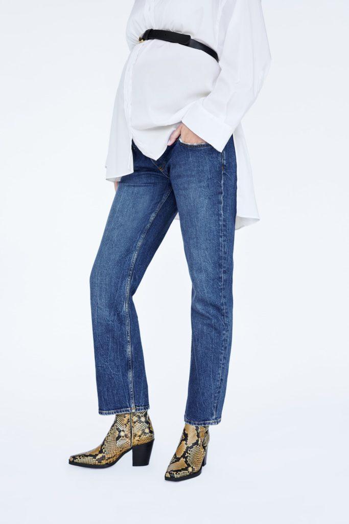 ZW premium new straight maternity jeans, €49.95 at zara.com