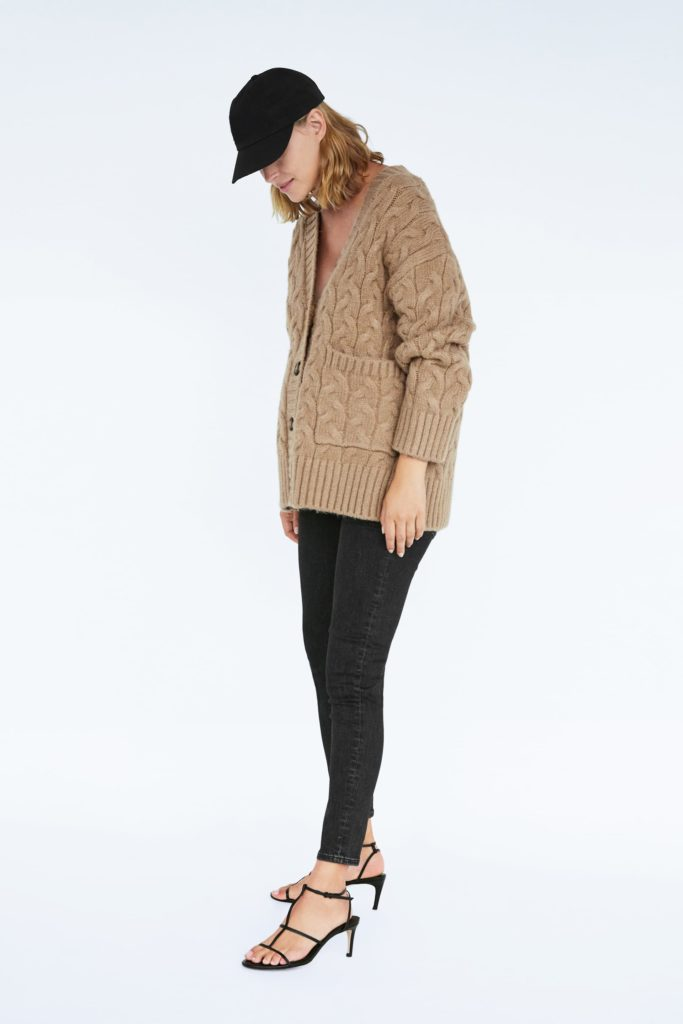 Cable-knit oversized cardigan, €49.95 at zara.com