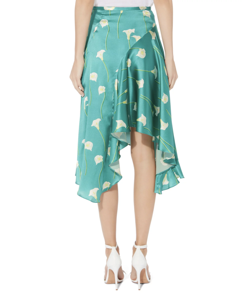 Calla lillyflounced midi slip skirt by Caroline Constas, €279.32 atintermixonline.com
