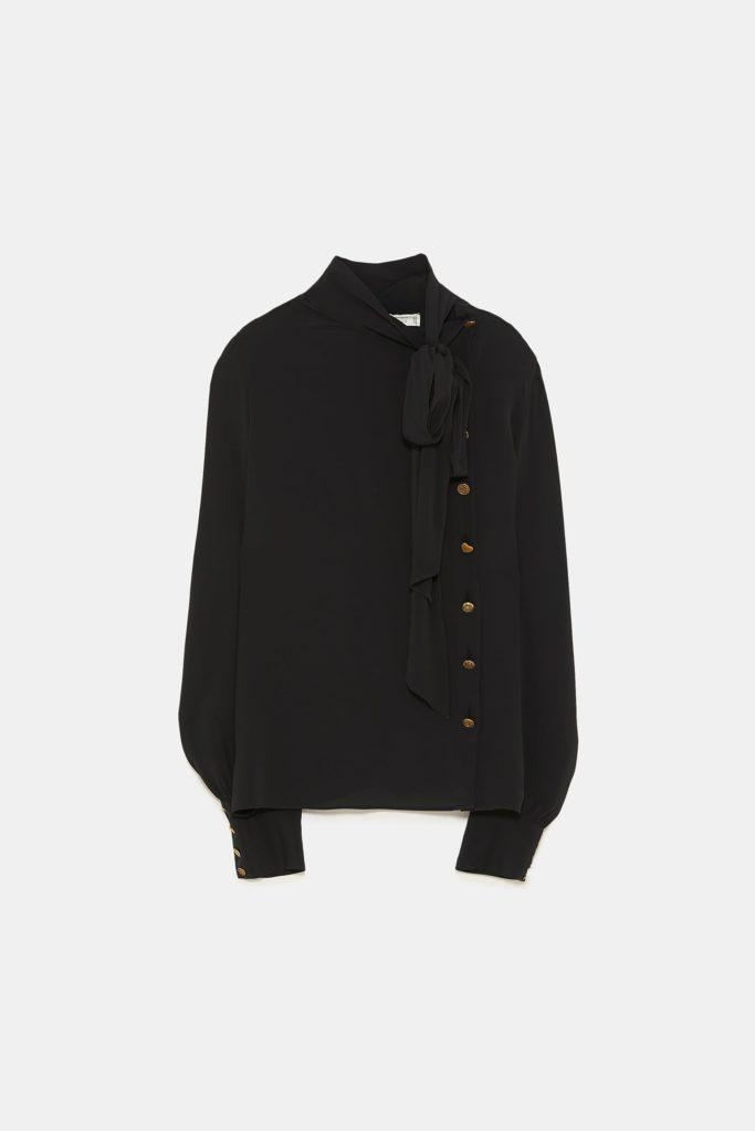 Shirt with button detailing, €79.95 at zara.com