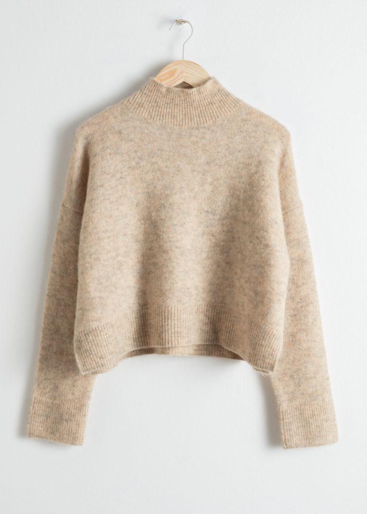 Wool blend cropped turtleneck, €69 at stories.com