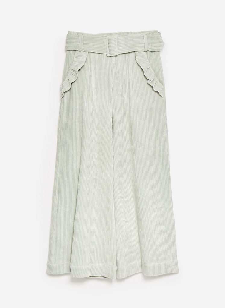 Corduroy trousers, €99 at uterque.com