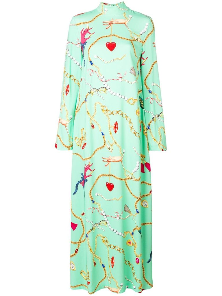 Long patterned dress by Vivetta, €757 at farfetch.com