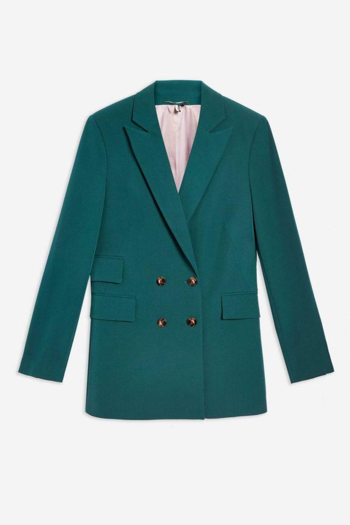 Dark green blazer, €68 at topshop.com