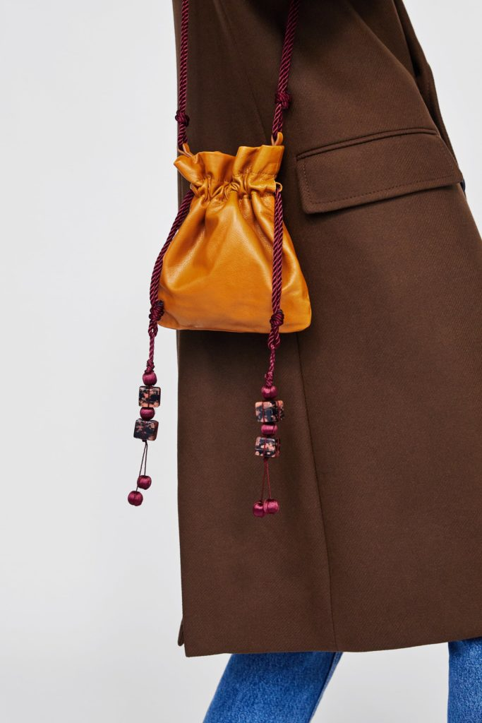 Mini leather pouchbag with details, €49.95 at zara.com