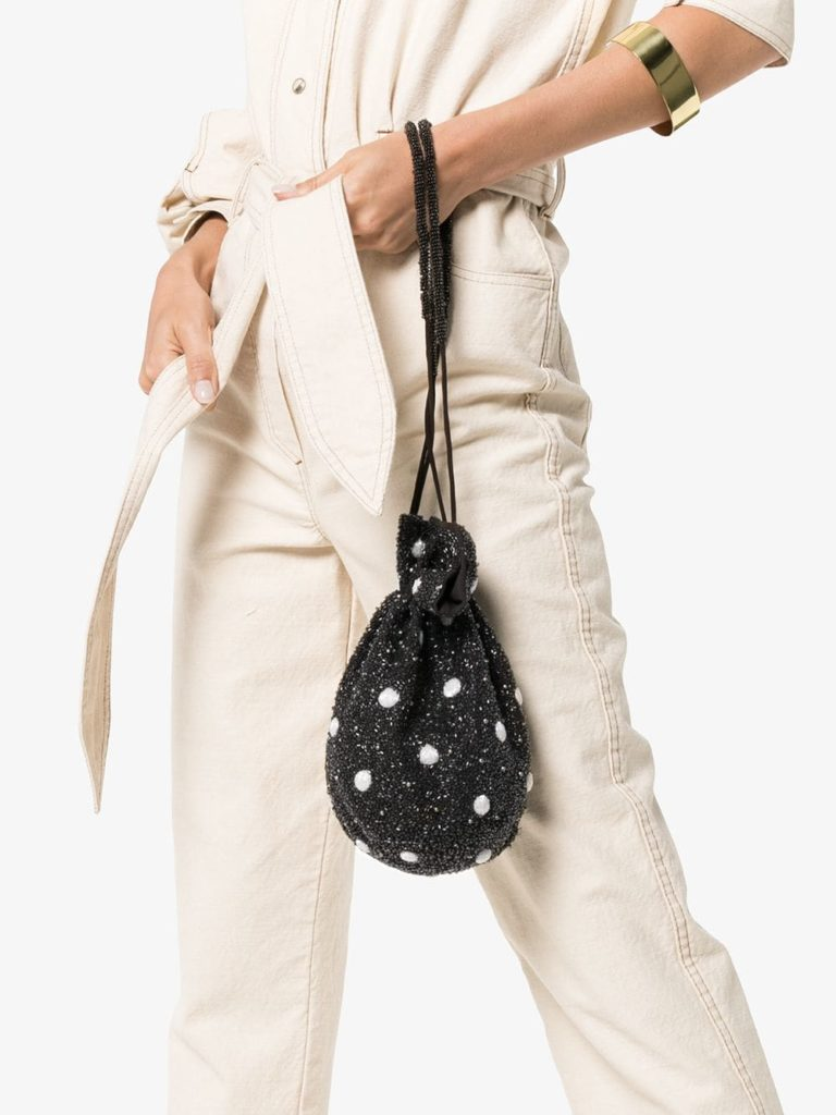 Multicoloured Wintourbead embellished drawstring pouch, €294 at brownsfashion.com