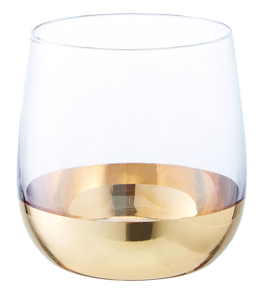 TK Maxx Glass Tumbler with Gold Base €9.99