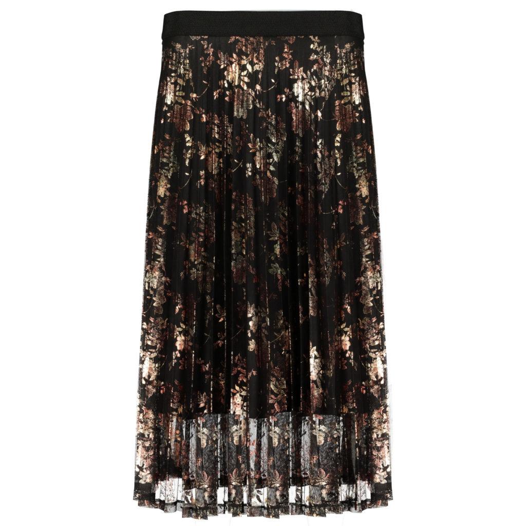 Foil pleated skirt, €32 at Tesco