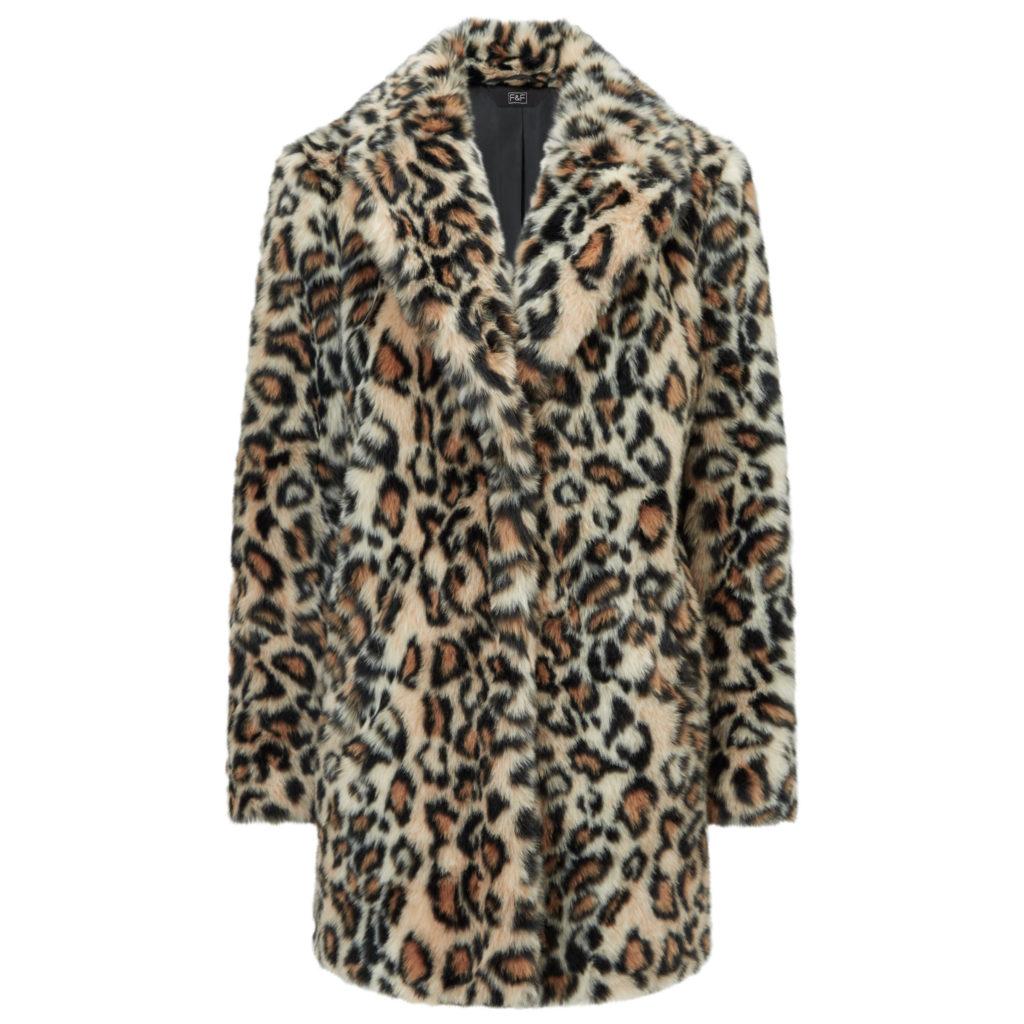 Faux fur coat, €63 at Tesco