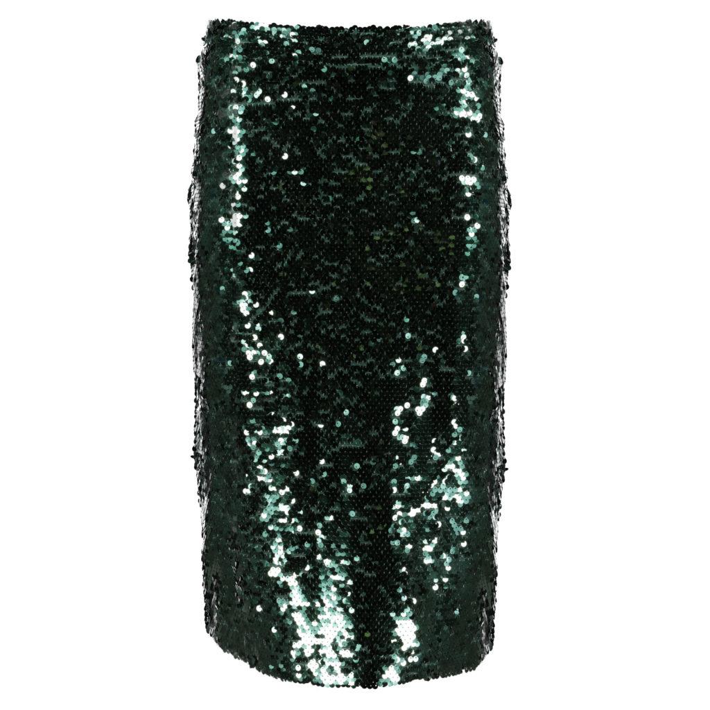 Green sequin midi skirt, €32 at Tesco