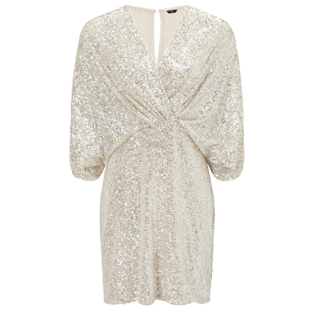 Knot twist sequin dress, €51 at Tesco