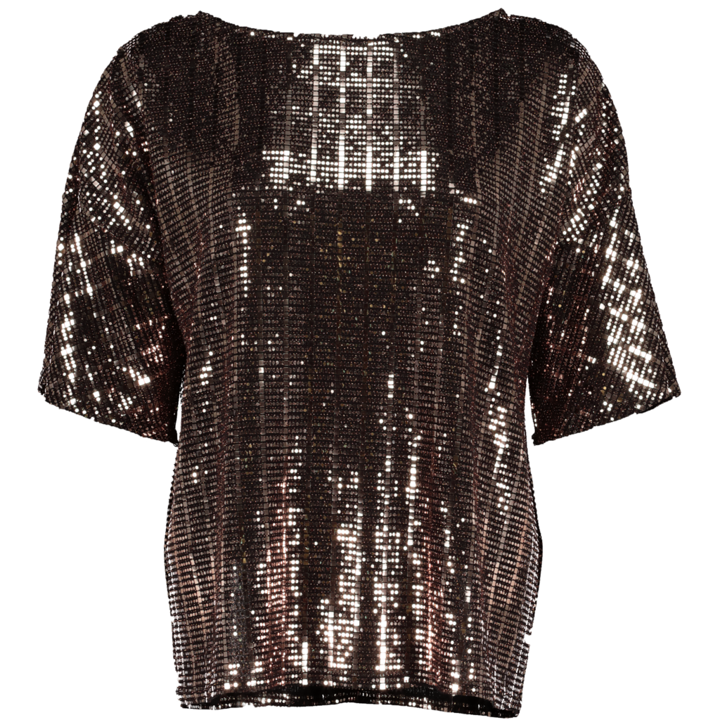 Rose gold square sequin top, €19 at Tesco