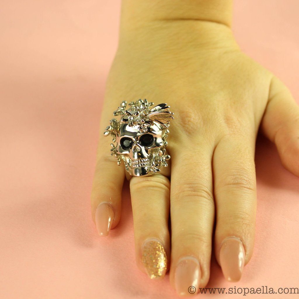 Alexander McQueen skull cocktail ring, reduced from €300 to €149 at siopaella.com