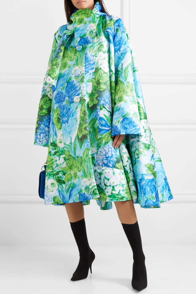 Oversized floral-print Duchesse-satin coat by Richard Quinn, €2,990 at net-a-porter.com