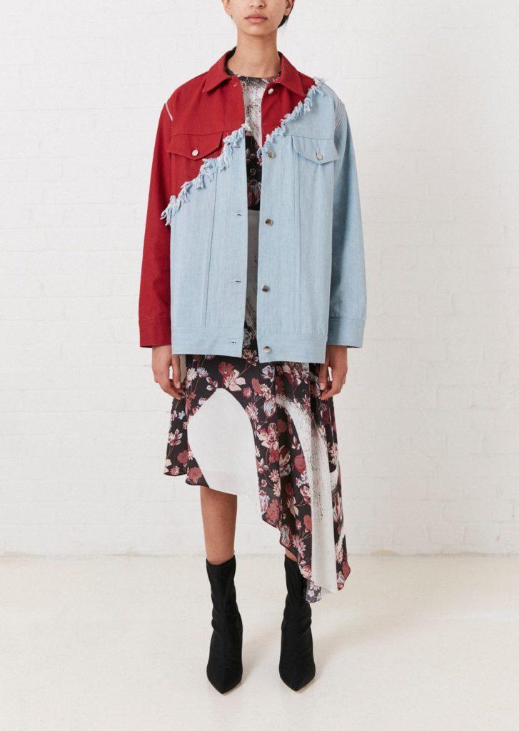 Vivid contrast oversized denim jacket, €345.63 at asos.com