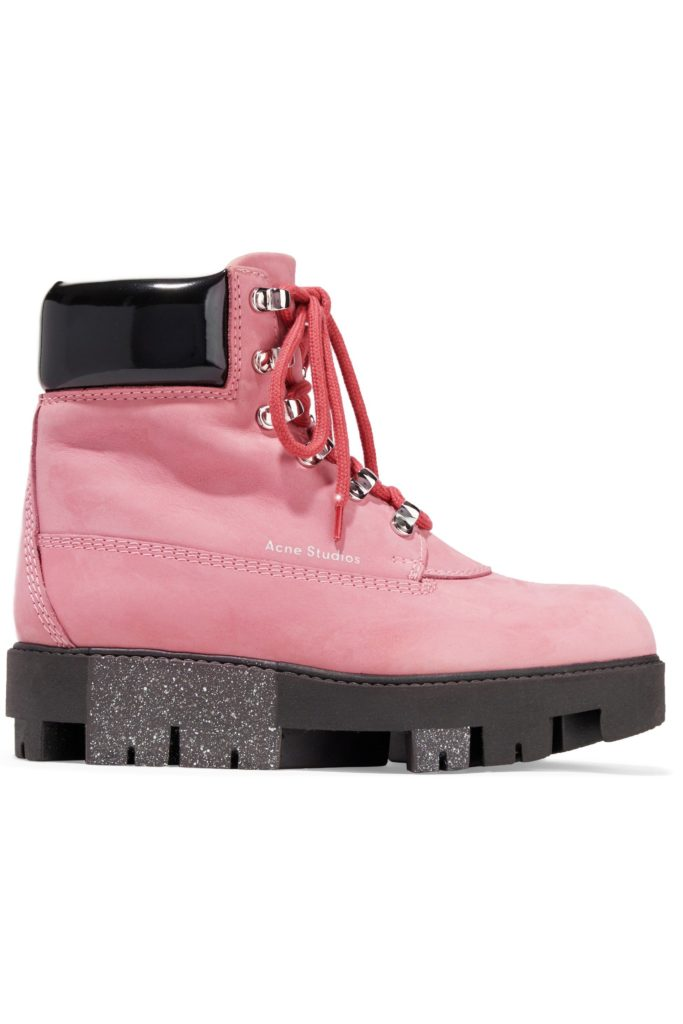 Telde patent leather-trimmed suede snow boots, €282 at theoutnet.com