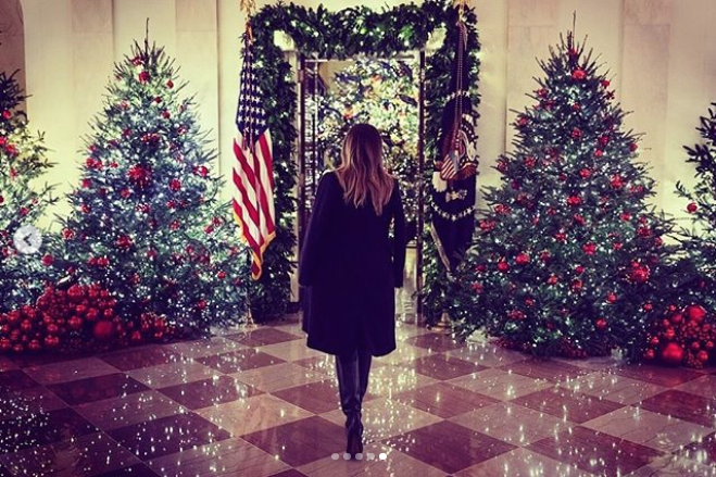 Christmas decorations at the White House