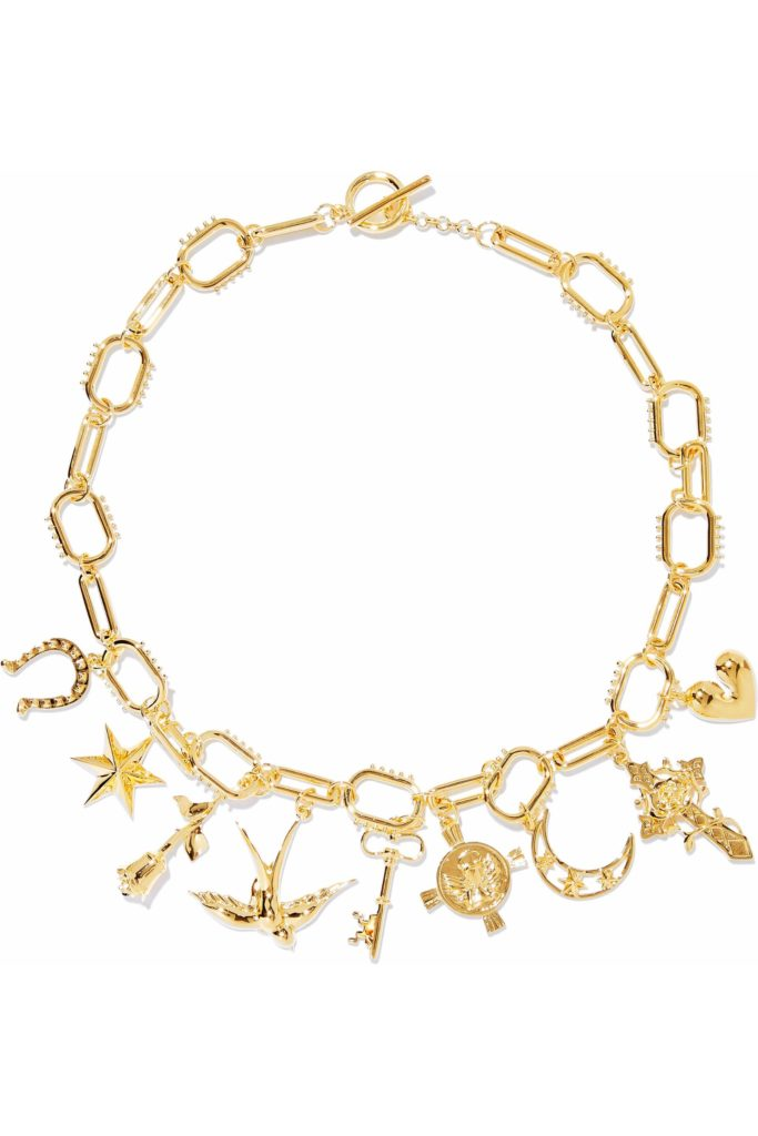 Gold-tone charm necklace, €120 at theoutnet.com