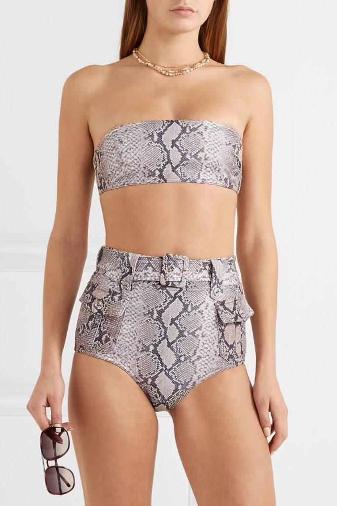 Corsage Safari snake-print belted bikini by Zimmerman, €392 at net-a-porter.com