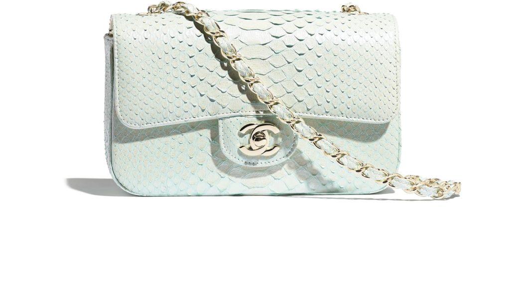 Python mini flap bag, €5,100 at chanel.com