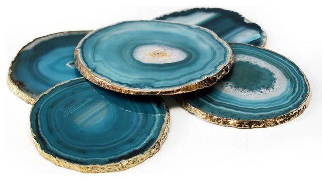 Agate and gold coasters, €13 at danuceramics.com