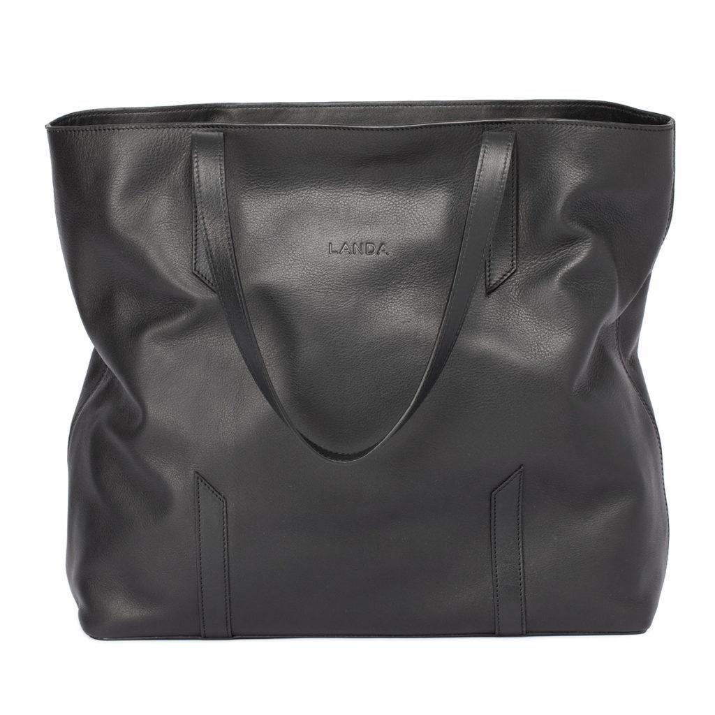 Ombu black leather bag, €495 at landabags.com