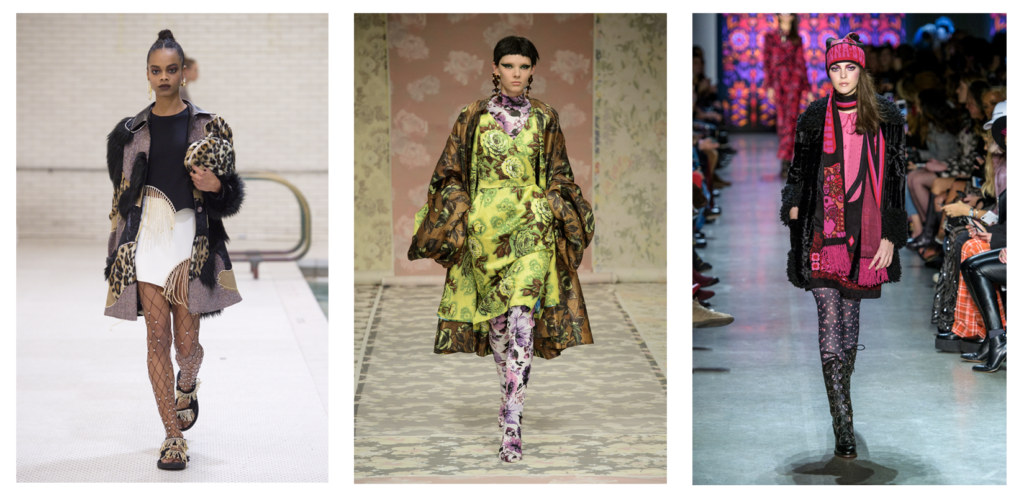 Left-right: Area AW18, Richard Quinn AW18, Anna Sui AW18, Jason Lloyd Evans.