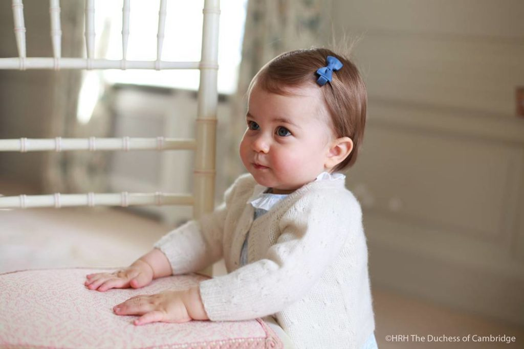 Princess Charlotte taken by Kate Middleton and shared via Kensington Palace on Instagram