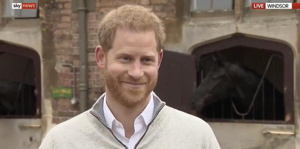 Prince Harry via Sky News