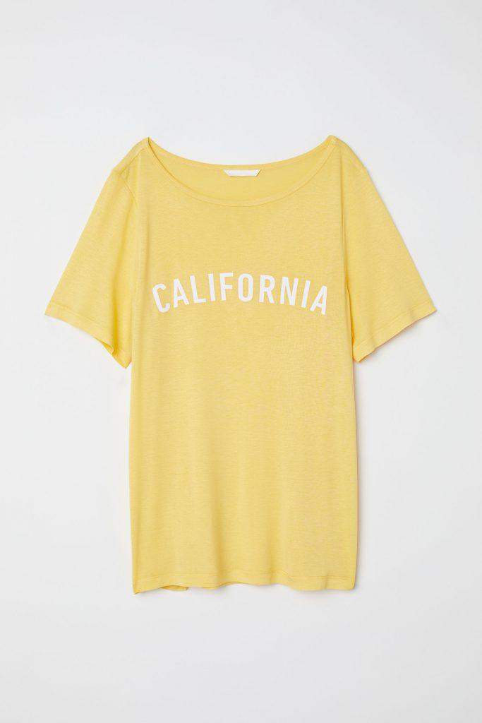 Yellow t-shirt, €9.99 at hm.com